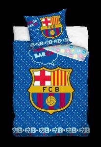 TYP PRODUKTU: Pościel KOD PRODUKTU: FCB2004 LICENCJA: FC Barcelona Rozmiar: 100x135+40x60