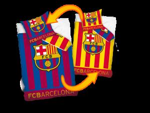 TYP PRODUKTU: Pościel KOD PRODUKTU: FCB8011 LICENCJA: FC Barcelona Rozmiar: 160x200+70x80/140x200+70x80